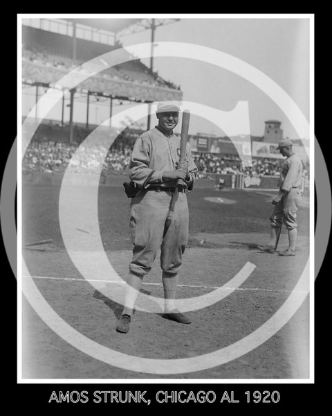 Amos Aaron Strunk,  Chicago White Sox AL, 1920.