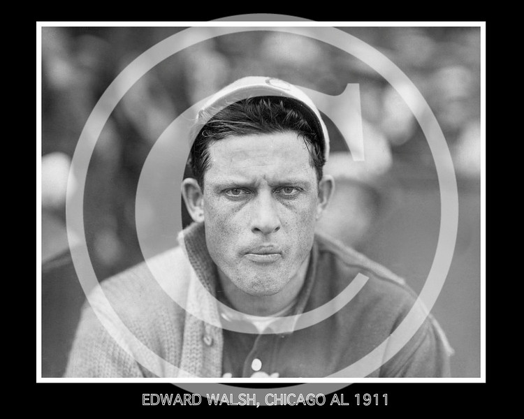 Big Ed (Edward Augustine) Walsh, pitcher for the Chicago White Sox AL, 13 May 1911.
