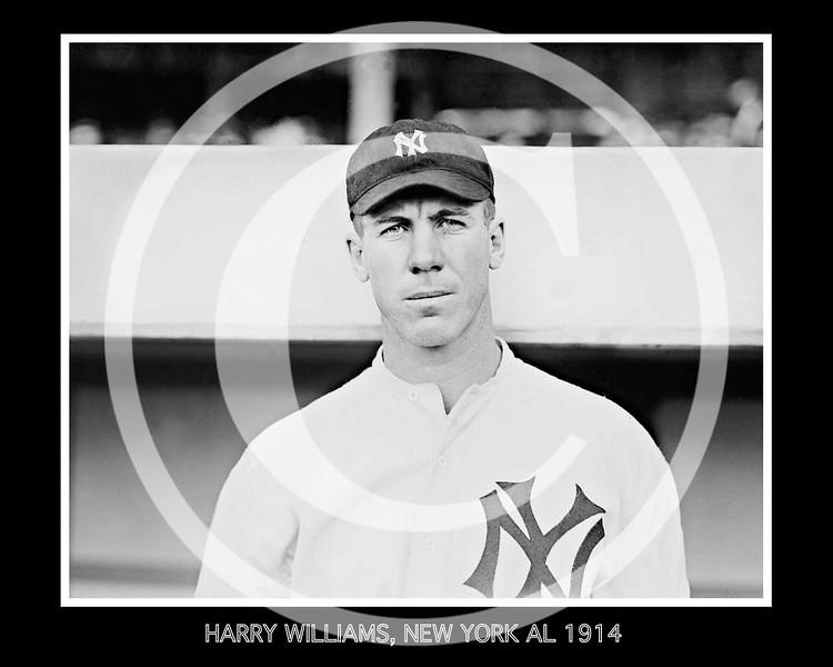 Harry Williams, New York Yankees AL, 1914.