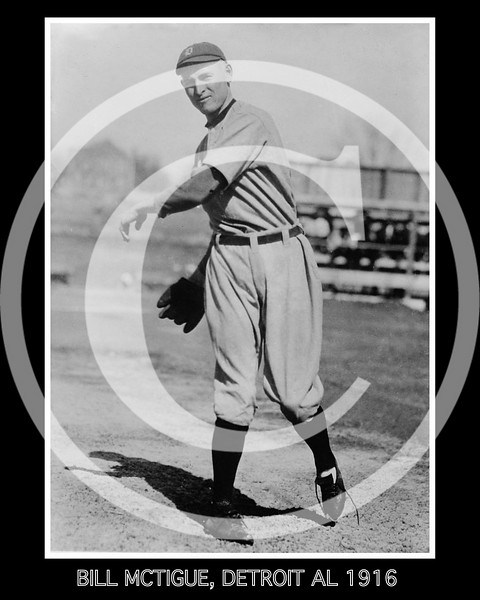 Bill McTigue, Detroit Tigers AL, 1916.