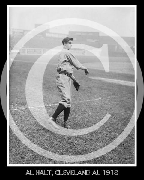 Al Halt, Cleveland Indians AL, 1918.