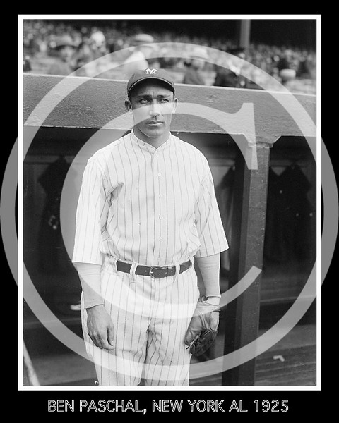 Ben Paschal, New York Yankees AL, 15 April 1925.