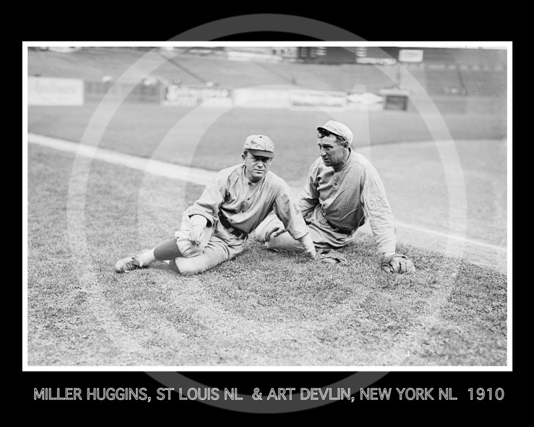 Miller Huggins, St. Louis Cardinals NL and Art Devlin, New York Giants  NL, 1910.