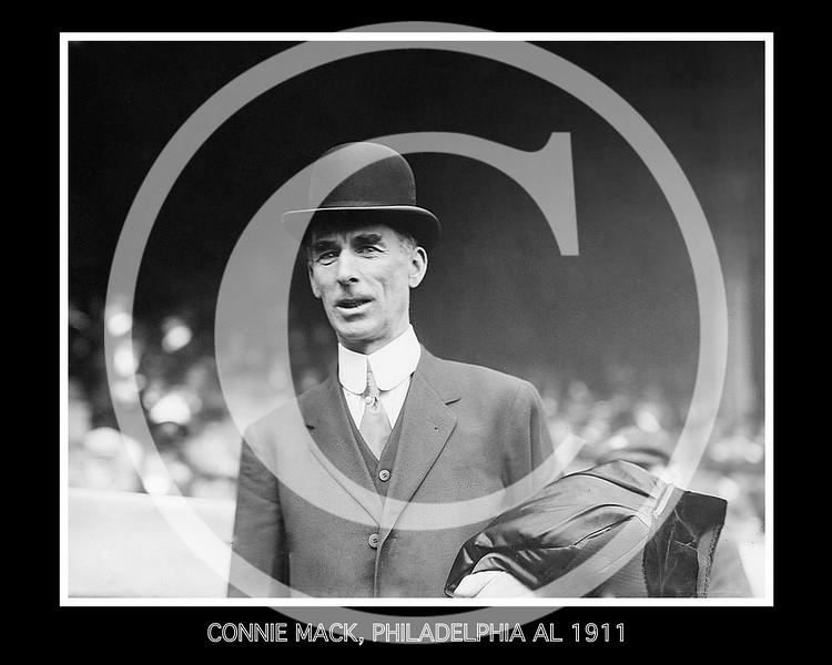 Connie Mack, manager, Philadelphia Athletics AL, 1911.