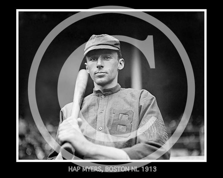 Hap Myers, Boston Braves NL, 1913.