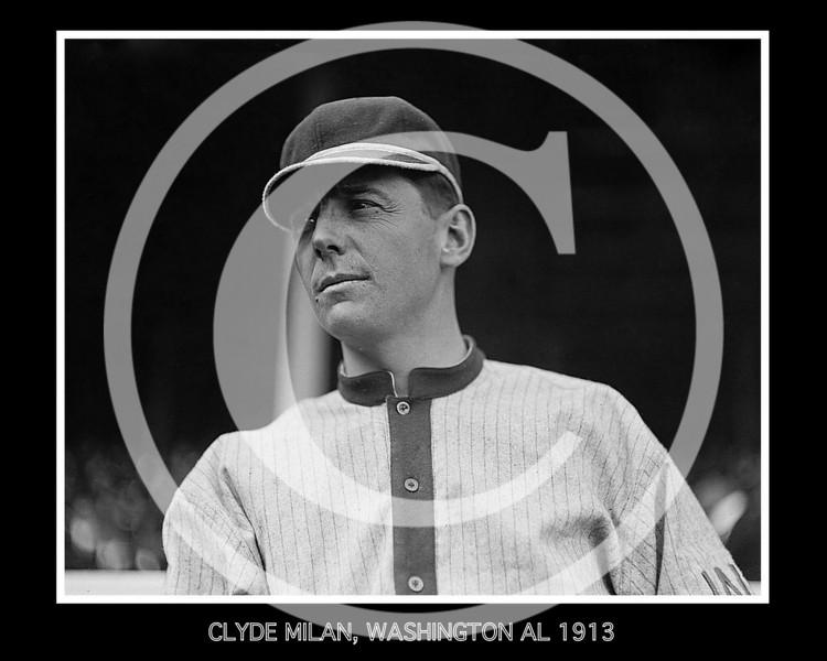 Clyde Milan, Washington Senators AL, 1913.