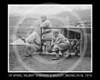 "Wilbert Robinson - Henry Harrison ""Hy"" Myers, Wilbert Robinson & mascot, Brooklyn Robins NL, 1916."