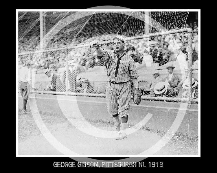 George Gibson, Pittsburgh Pirates NL, 1913.