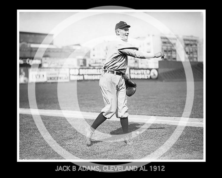 Jack B. Adams, Cleveland Naps AL, 1912.