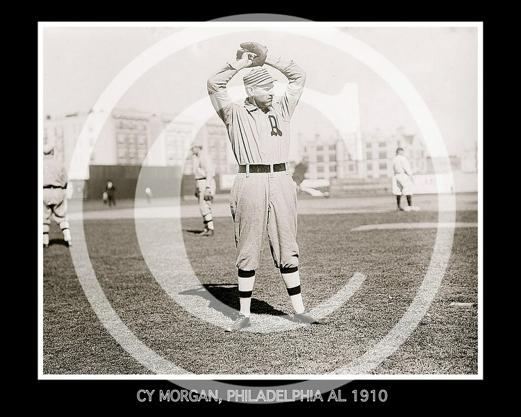 Cy Morgan, Philadelphia Athletics AL, 1910.