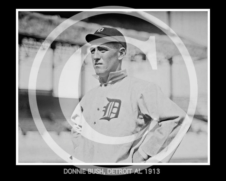 Donie Bush, Detroit Tigers AL, at the Polo Grounds NY, 1913.