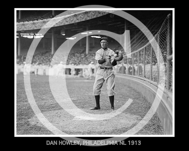 Dan Howley, Philadelphia Phillies NL, at the Polo Grounds NY, 1913.