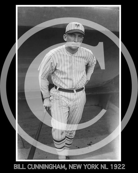 Bill Cunningham, New York Giants NL, 1922.