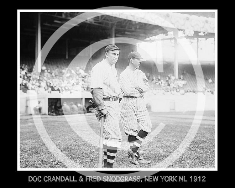 "James Otis ""Doc"" Crandall & Fred Snodgrass, New York Giants NL, at the Polo Grounds NY, 1912."