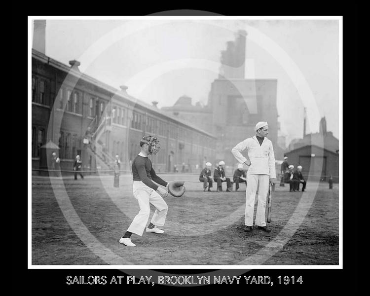 Sailors at play, Brooklyn Navy Yard 1914.