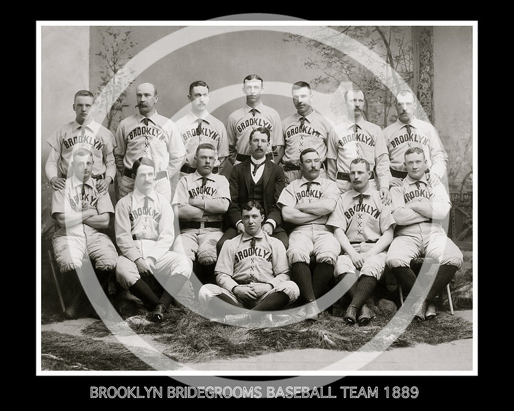 Brooklyn Bridegrooms, American Association, 1889.