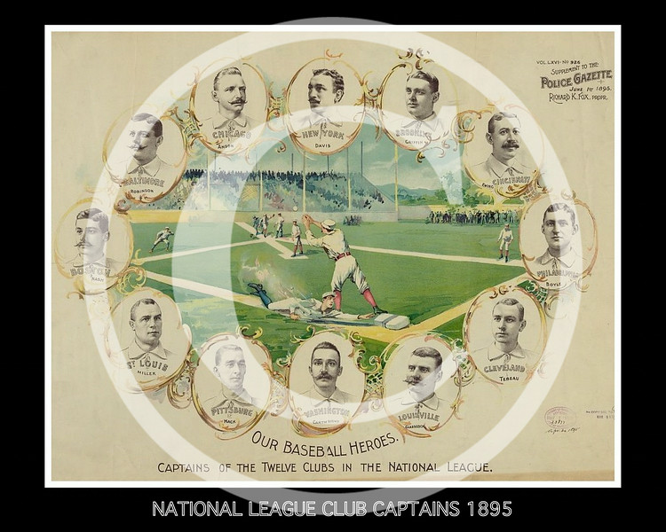 Captains of the twelve clubs in the National League 20 April 1895.