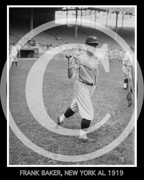 Frank Home Run Baker,  New York  Yankees AL, 1919.
