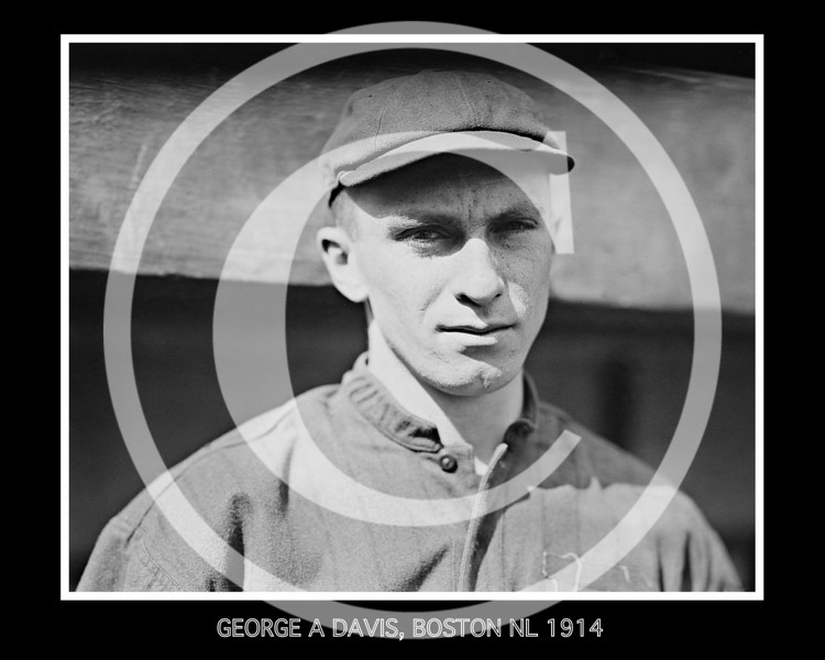 George A. Davis, Boston Braves NL, 1914.