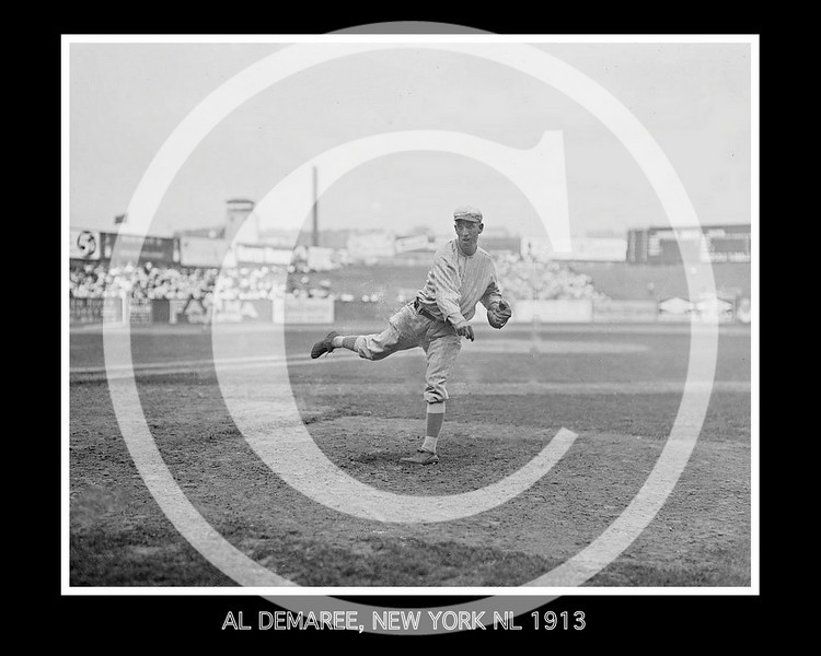 Al Demaree, New York Giants NL, 17 July 1913.