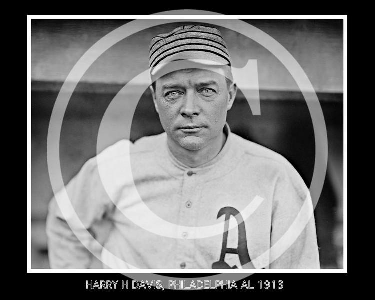 Harry Davis, Philadelphia Athletics  AL, 1913.