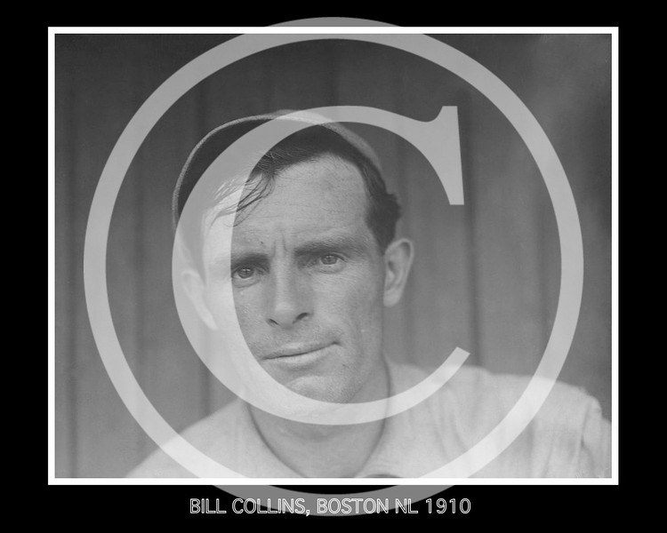 Bill (William Shirley) Collins, outfielder for the Boston Doves NL, 1910.