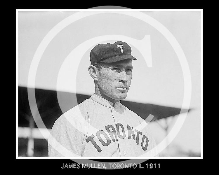 Jim Mullen, 2B, Toronto Maple Leafs, Eastern League, 1911.