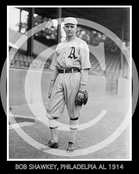 "James Robert ""Bob"" Shawkey,  Philadelphia Athletics AL, 1914."