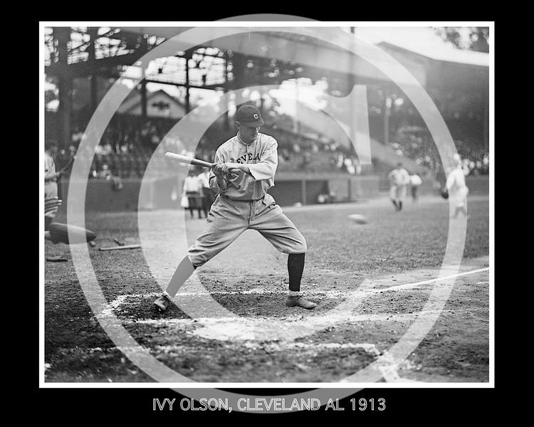 "Ivan Massie ""Ivy"" Olson, Cleveland Naps AL, at National Park, Washington D.C. 1913."