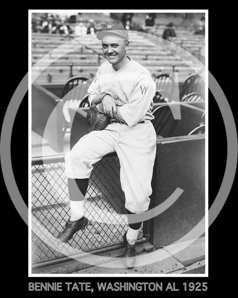 Bennie Tate, Washington Senators AL, 1925.