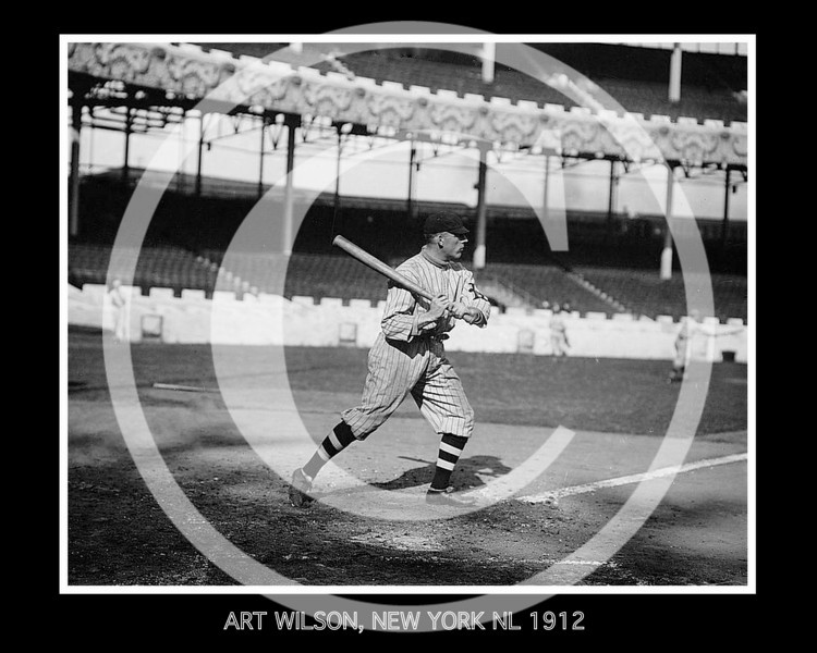 Art Wilson, New York Giants NL, 1912.