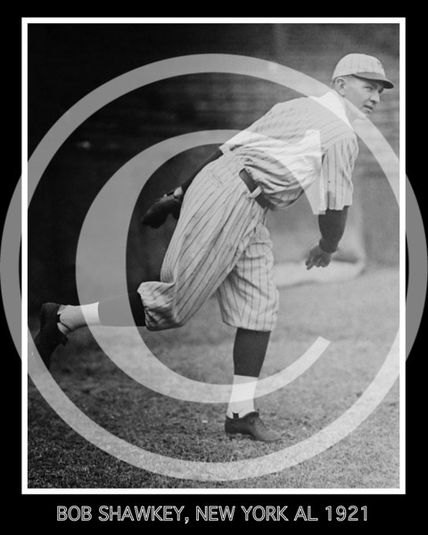 "James Robert ""Bob"" Shawkey, New York Yankees AL, 1921."