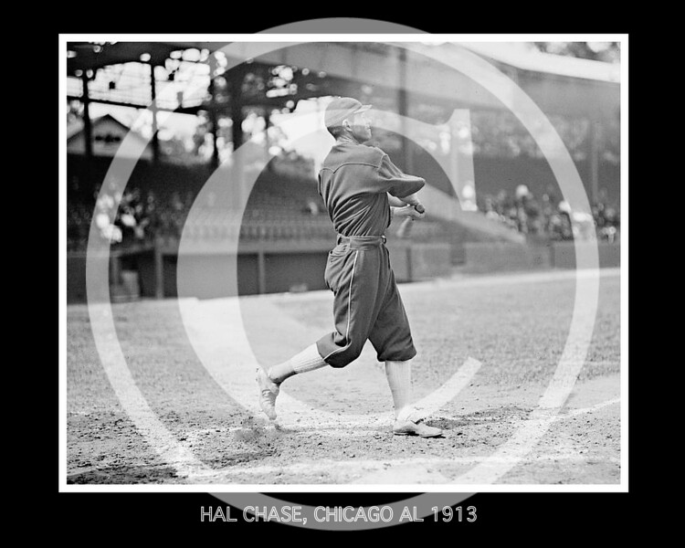 Hal Chase,  Chicago White Sox AL, 1913.