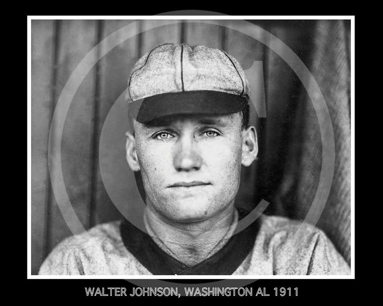Walter Johnson, Washington Senators AL, 1 March 1911.