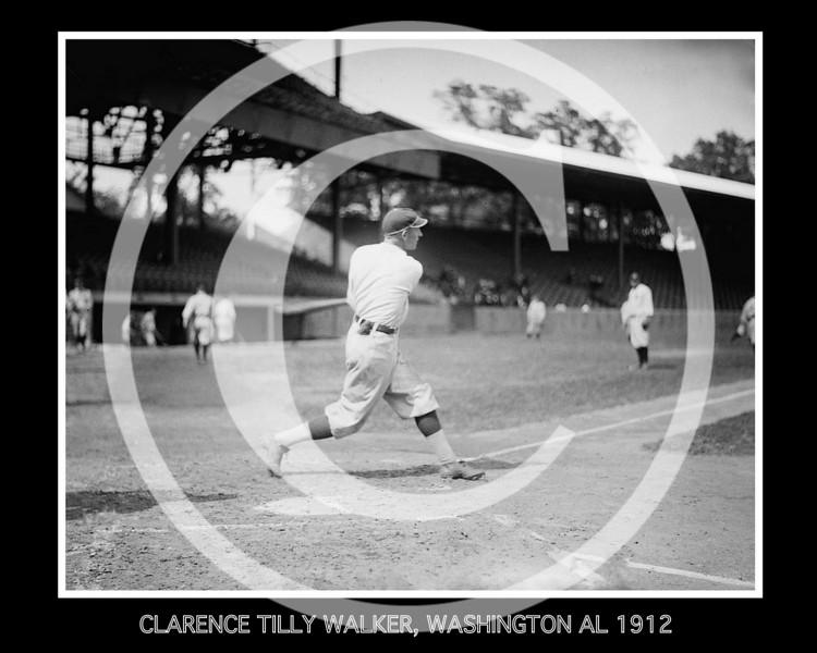 Clarence Tilly Walker, Washington Senators AL, 1912.