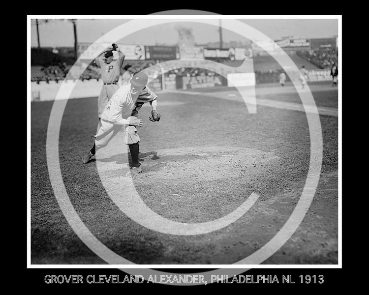 Grover Cleveland Alexander, Philadelphia Phillies NL, 1913.