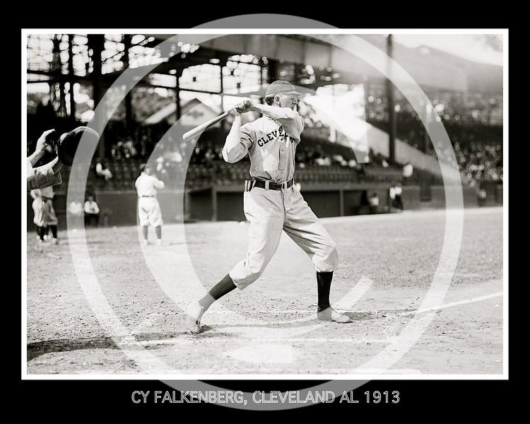Cy Falkenburg, Cleveland Naps AL, at National Park, Washington D.C. 1913.