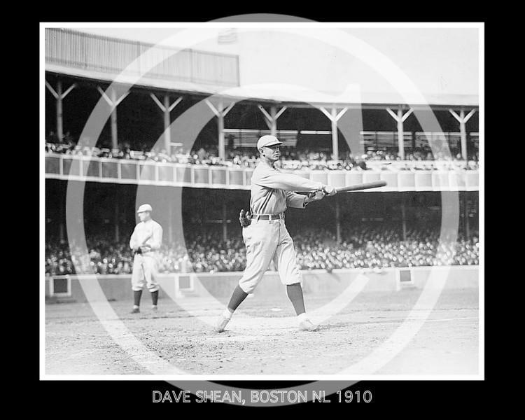 Dave Shean, Boston Braves NL, 1910.