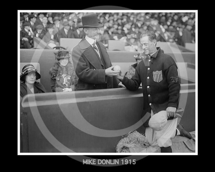 Mike Donlin - Daniel Frohman, Broadway producer & Mike Donlin, former baseball player, 1915.
