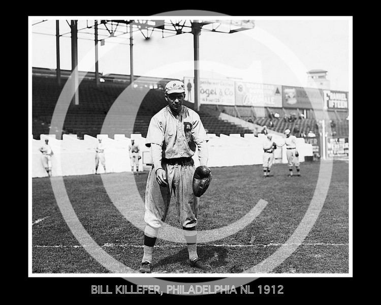 Bill Killefer, Philadelphia Phillies NL, at Polo Grounds NY,  1912.