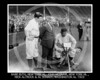 Nick Altrock - Babe Ruth, New York Yankees AL, John McGraw, New York Giants NL, Nick Altrock and Al Schact, Washington Senators AL, 10 October 1923.