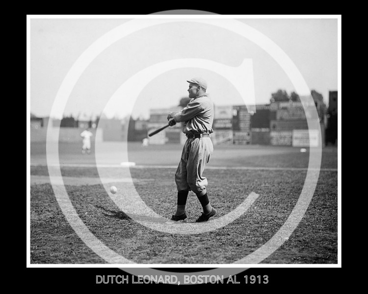 Dutch Leonard, Boston Red Sox AL ,1913.