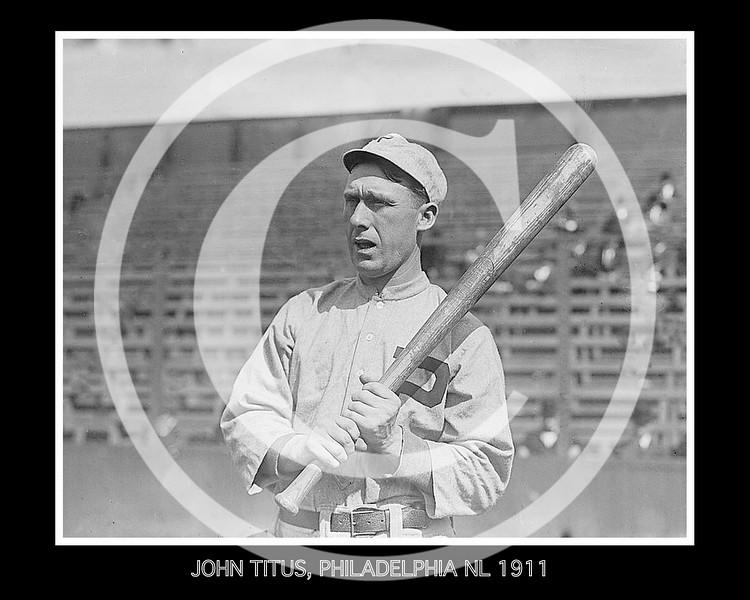 John Titus, Philadelphia Phillies NL, 1911.