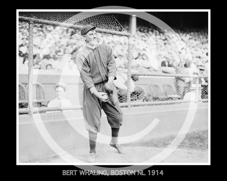 Bert Whaling, Boston Braves NL,  1914.