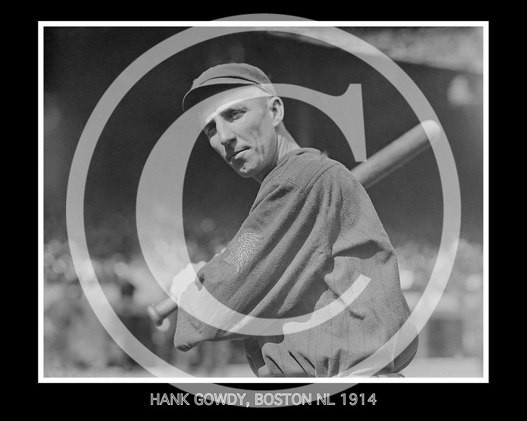 Hank Gowdy, Boston Braves NL,  1914.