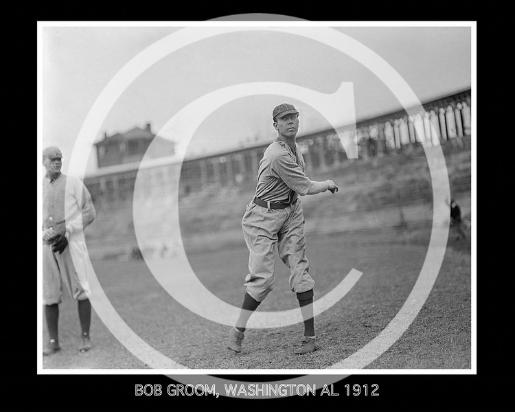 Bob Groom, Washington Senators AL, at the University of Virginia, Charlottesville 1912.