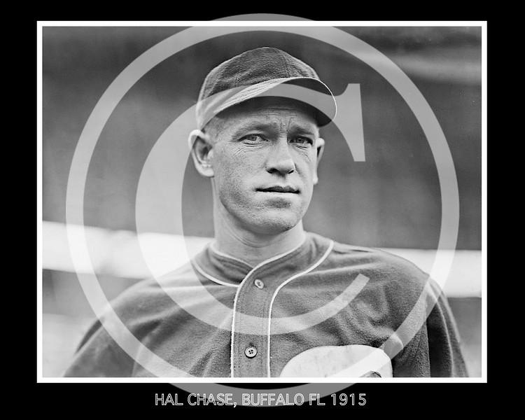 Hal Chase, Buffalo Buffeds, Federal League, 1915.