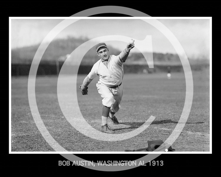 Robert Austin, Washington Senators AL, at University of Virginia, Charlottesville, 1913.