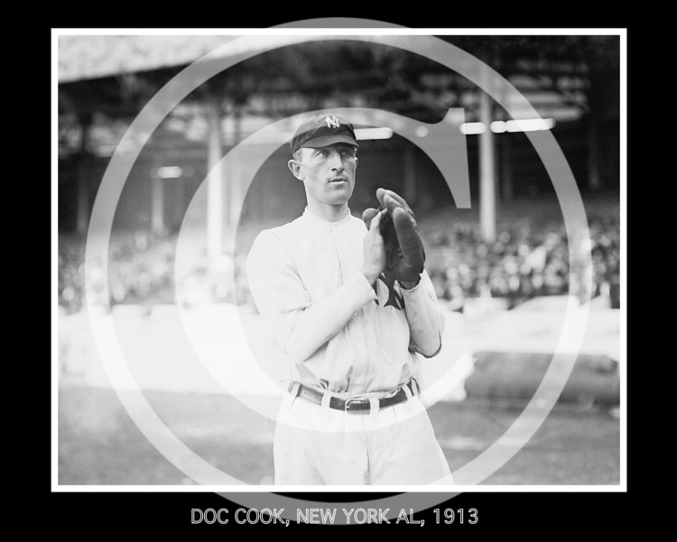 Doc Cook, New York Yankees AL, at the Polo Grounds NY,  1913.