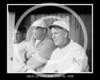 Arlie Latham foreground; Wilbert Robinson background, New York NL 1909